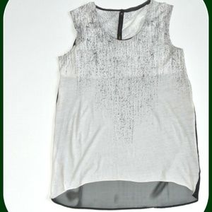 IMPROVD High Low Tank Top White sheer black